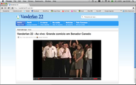 Durante toda a campanha o candidato transmitirá ao vivo seus comícios