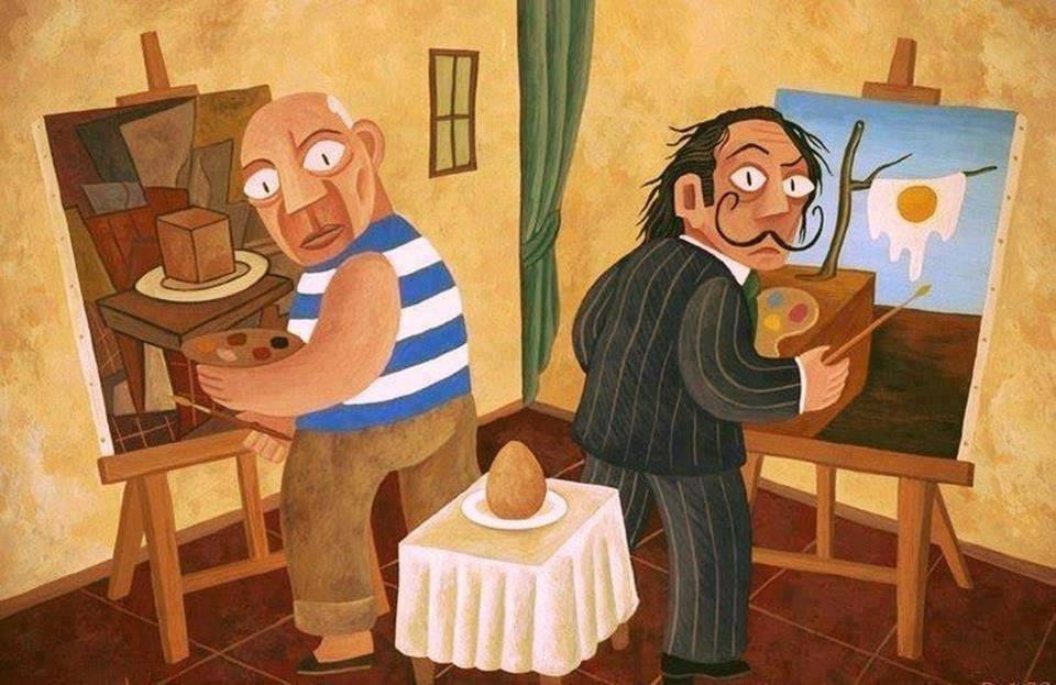 Picasso e Dalí por David Vela.