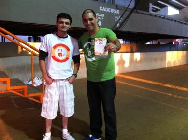 Eu e meu amigo Marcus Vinícius, designer de altíssima qualidade.